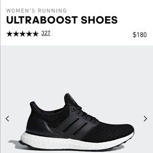 Women black adidas ultraboost size 7